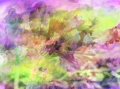 Photograph - Floral Pastel Abstract by Mikki Cucuzzo