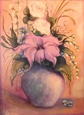 Painting - Floral Pastels Arrangement by Jordana Sands