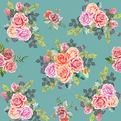 Valentine Day Digital Art - Floral Pattern 2 by Stanley Wong