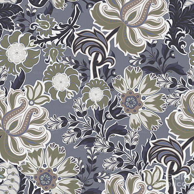 Tribal Art Painting - Floral Pattern 456k by Gull G