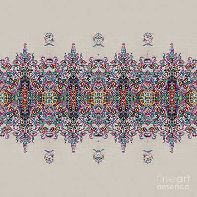 Pattern Painting - Floral Pattern Art 32 by Gull G