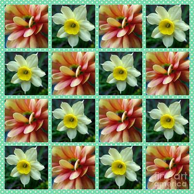Popstar And Musician Paintings Royalty Free Images - Floral Pattern Collage Royalty-Free Image by Joan-Violet Stretch