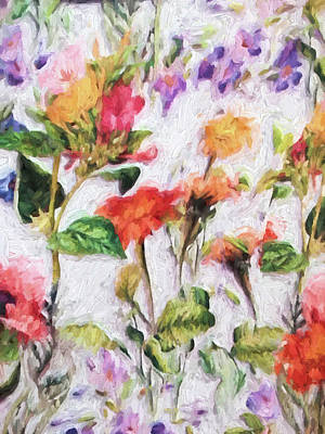 Photograph - Floral Pattern Design Painted by Sandi OReilly