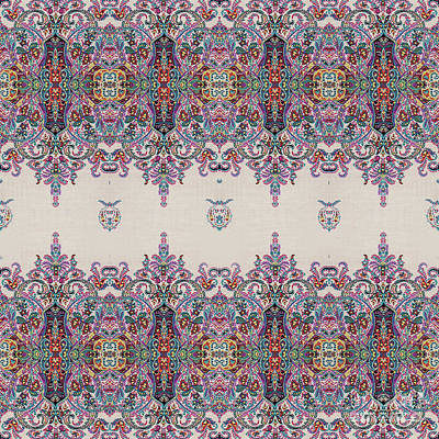 Tribal Art Painting - Floral Pattern by Gull G