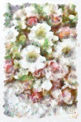 Painting - Floral Pearlesqued In The Mix White And Pink by Catherine Lott