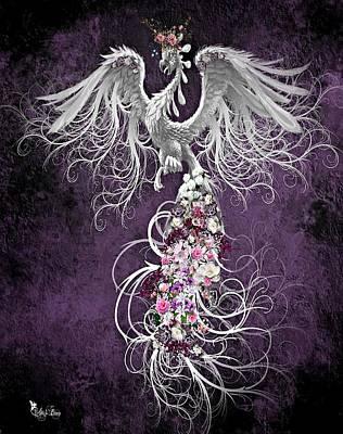 Digital Art - Floral Phoenix by Ali Oppy