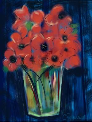 Painting - Floral Poppies by Christine Fournier