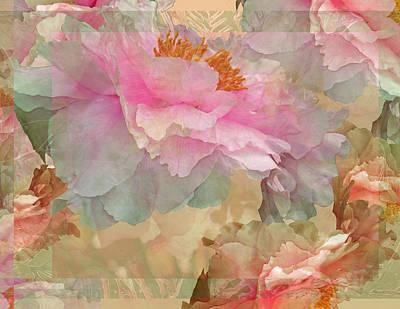 Digital Art - Floral Potpourri With Peonies 10 by Lynda Lehmann