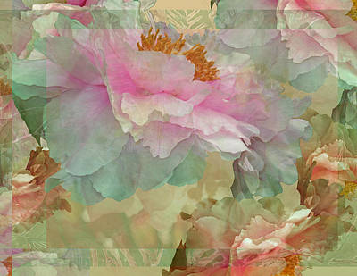 Lush Mixed Media Photograph - Floral Potpourri With Peonies 16 by Lynda Lehmann