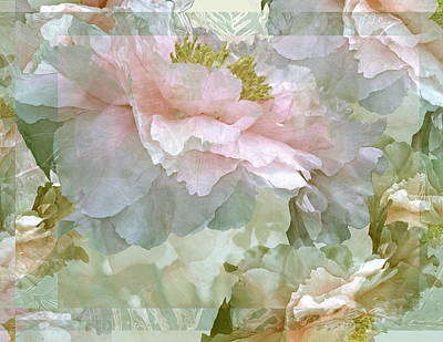 Lush Mixed Media Digital Art - Floral Potpourri With Peonies 25 by Lynda Lehmann
