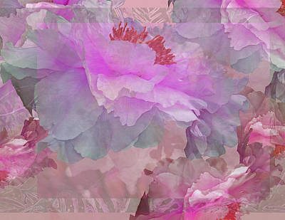 Photograph - Floral Potpourri With Peonies 6 by Lynda Lehmann