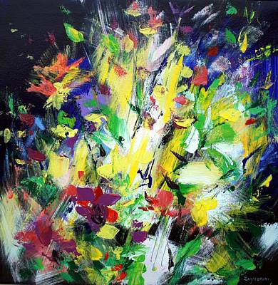 Flowers Painting - Floral Print - Abstract Still Life by Mario Zampedroni