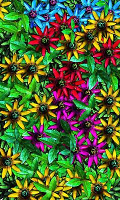 Digital Art - Floral Print by David Lane