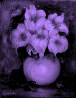 Painting - Floral Puffs In Purple by Jordana Sands