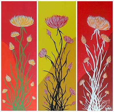 Painting - Floral Secrets  by JoNeL Art