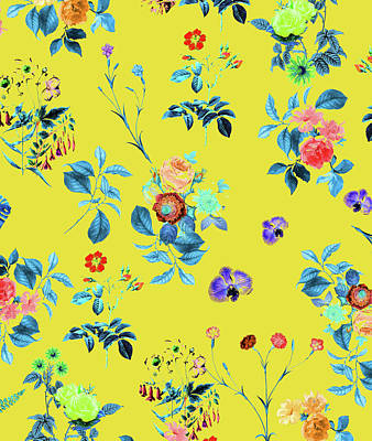 Floral Shower II Art Print