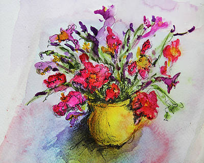 Art Print featuring the painting Floral Still Life 05 by Linde Townsend