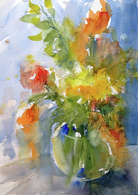 Painting - Floral Still Life by Judith Levins
