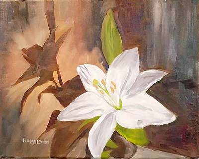 Painting - Floral-still Life by Larry Hamilton