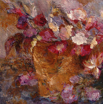Painting - Floral Still Life Pinks by Claire Bull