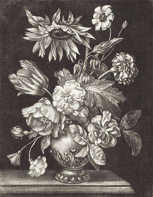 Painting - Floral Still Life With A Sunflower1203-0050.jpg by Elias Christoph Heiss