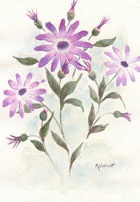 Lavendar Painting - Floral Study by Marsha Elliott