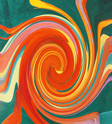 Painting - Floral Swirl 4 by Margaret Saheed