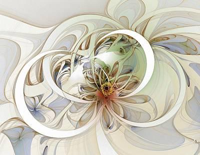 Floral Swirls Art Print by Amanda Moore