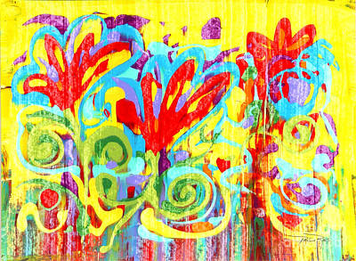 Floral Swirls Art Print by Pauline Ross