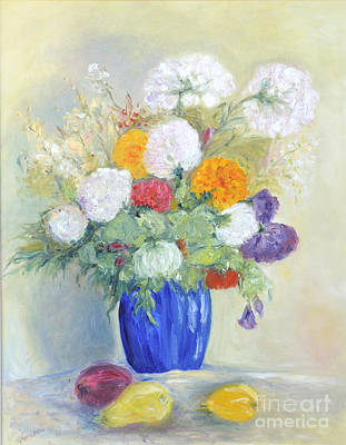 Art Print featuring the painting Floral Symphonie by Barbara Anna Knauf