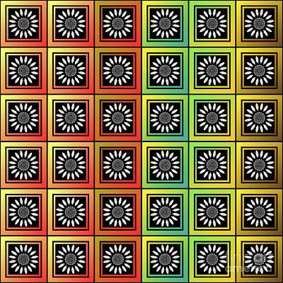 Floral Tessellation Art Print
