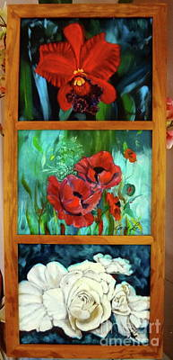 Painting - Floral Trilogy by Jenny Lee
