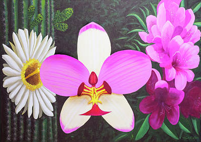Painting - Floral Trinity by Frank Wilson