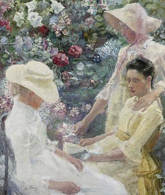 Painting - Floral Trio by Jan Toorop