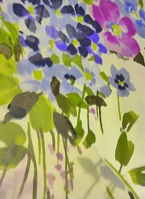 Floral Vines Art Print by Florene Welebny