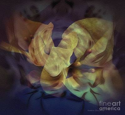 Digital Art - Floral Vortex by Kathie Chicoine