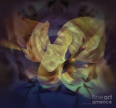 Digital Art - Floral Vortex by Kathie Chicoine
