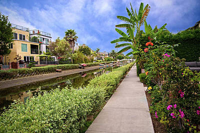 Photograph - Floral Walkways Along The Canal by Lynn Bauer