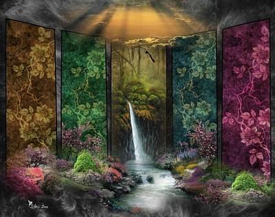 Digital Art - Floral Walls by Ali Oppy