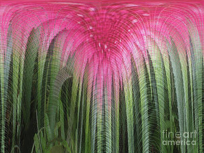 Digital Art - Floral Waterfall by Ann Johndro-Collins