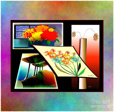 Digital Art - Floral Welcoming by Iris Gelbart