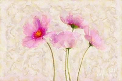 Pink Flower Digital Art - Floralitou - 134w by Variance Collections