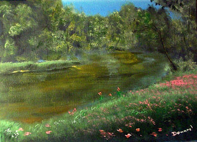 Painting - Florals By The Lake by Raymond Doward