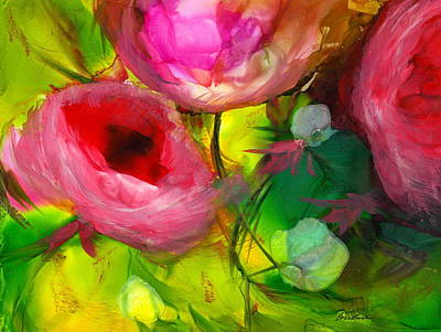 Wall Art - Painting - Florals In Bloom by Alexis Bonavitacola