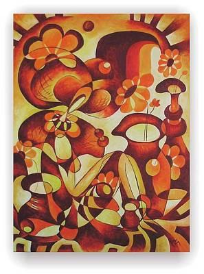 Figurativ Painting - Florareasa by Mariana Oros