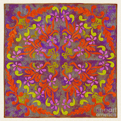 Tribal Art Painting - Florart Art 34gf by Gull G