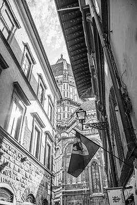 Photograph - Florecen Italy Duomo And Street  by John McGraw