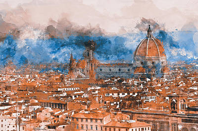 Painting - Florence - 10 by Andrea Mazzocchetti