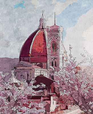 Painting - Florence - 16 by Andrea Mazzocchetti