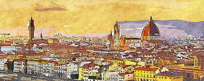 Painting - Florence - 17 by Andrea Mazzocchetti